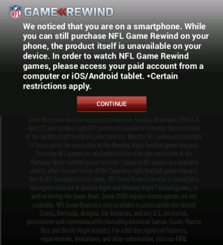 NFL Rewind Disclaimer