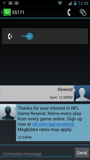 NFL Rewind SMS marketing tips tricks mobile agency