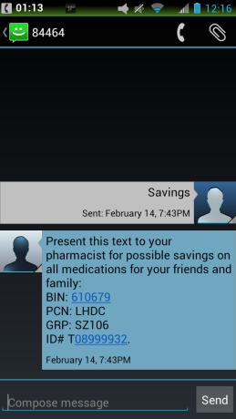 SMS Case Study Prescriptions