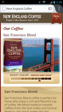 Mobile Marketing Agency SMS New England Coffee Scores With A QR Code